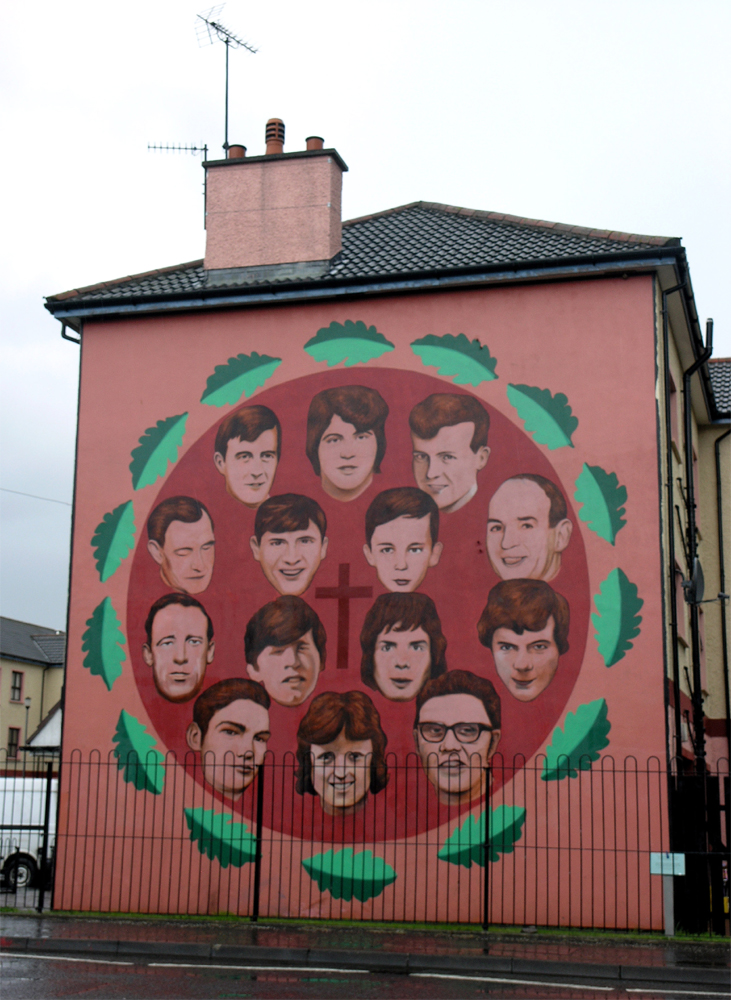 Bloody sunday 30 janvier 1972 for Mural irlande
